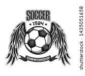 soccer logo design template.... | Shutterstock .eps vector #1435051658