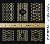 geometric pattern with label ... | Shutterstock .eps vector #1435100642