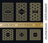 geometric pattern with label ... | Shutterstock .eps vector #1435100645