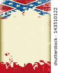 Grunge Confederate Old Flag. A...