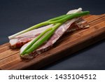 uncured apple smoked bacon...   Shutterstock . vector #1435104512