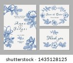 vintage wedding invitation.... | Shutterstock .eps vector #1435128125