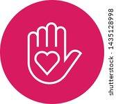 hand giving heart outline icon   Shutterstock .eps vector #1435128998