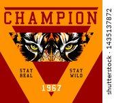 tiger illustration slogan... | Shutterstock .eps vector #1435137872