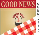 poster good news  ... | Shutterstock .eps vector #1435150535