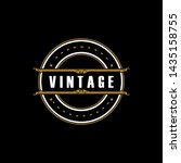 vintage logo design inspiration ... | Shutterstock .eps vector #1435158755