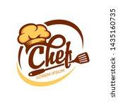 kitchen chef design logo... | Shutterstock .eps vector #1435160735