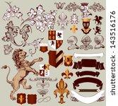 antiguo,armadura,insignia,barroco,caballería,escudo de armas,esquina,cresta,cruz,corona,decoración,águila,emblema,flor de lis,floral