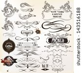 vector set of calligraphic... | Shutterstock .eps vector #143516188