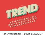 vector of stylized modern font... | Shutterstock .eps vector #1435166222