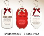 set of vintage tags with silk... | Shutterstock .eps vector #143516965