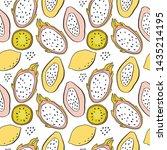 summer fresh juicy hand drawn... | Shutterstock .eps vector #1435214195