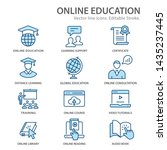 online education flat line... | Shutterstock .eps vector #1435237445