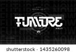 future lettering for t shirt... | Shutterstock .eps vector #1435260098