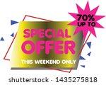 special offer banner   vector... | Shutterstock .eps vector #1435275818