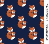 seamless vector pattern with... | Shutterstock .eps vector #1435278752