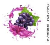 red grape juice splash... | Shutterstock .eps vector #1435294988