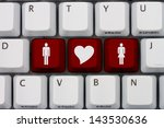 computer keyboard keys with... | Shutterstock . vector #143530636