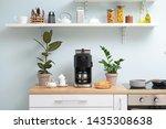 Modern Coffee Machine  Cups And ...