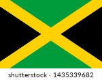 flag of jamaica is an island... | Shutterstock . vector #1435339682