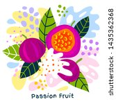 fresh passion fruit tropical... | Shutterstock .eps vector #1435362368