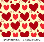 hearts of different colors and... | Shutterstock .eps vector #1435369292