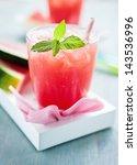 watermelon smoothie | Shutterstock . vector #143536996