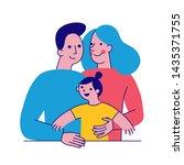 vector illustration in simple... | Shutterstock .eps vector #1435371755