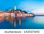 rovinj is a city in croatia...   Shutterstock . vector #143537692