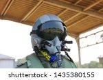 Fighter Pilot Helmet And Suit...