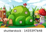 money playing at fantasy land... | Shutterstock .eps vector #1435397648