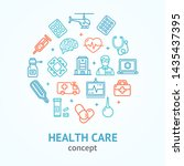 health care color round design... | Shutterstock . vector #1435437395