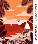 summer tropical islands... | Shutterstock .eps vector #1435444985