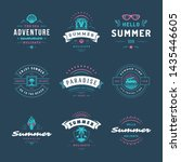 summer holidays labels and... | Shutterstock .eps vector #1435446605