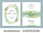 botanical card with wild leaves.... | Shutterstock .eps vector #1435452038