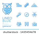lineo blue   camping and... | Shutterstock .eps vector #1435454678