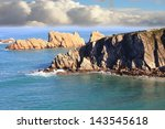 Coastal Landscape With Blue Sea ...