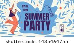 summer party horizontal retro... | Shutterstock .eps vector #1435464755