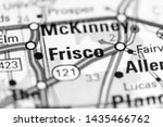 frisco. texas. usa on a map