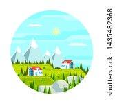 summer landscape. houses among...   Shutterstock .eps vector #1435482368