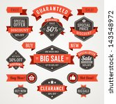 vector vintage sale labels and... | Shutterstock .eps vector #143548972