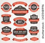 Vector Vintage Sale Labels And...