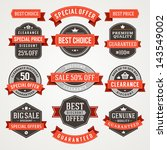 vector vintage sale labels and... | Shutterstock .eps vector #143549002