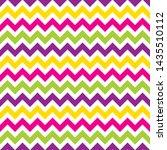 seamless colourful chevron... | Shutterstock .eps vector #1435510112