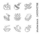 restaurant menu dishes linear... | Shutterstock .eps vector #1435545788
