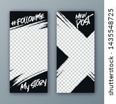 set of modern templates for the ... | Shutterstock .eps vector #1435548725