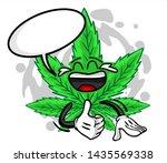 funny marijuana cartoon mascot... | Shutterstock .eps vector #1435569338