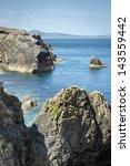 north ireland rocky bay during... | Shutterstock . vector #143559442