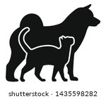 dog and cat. black silhouette... | Shutterstock .eps vector #1435598282