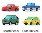 flat illustrations of cars in... | Shutterstock . vector #1435600928